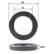Select Size ID 21 - 24mm TC Double Lip Rubber Rotary Shaft Oil Seal with Spring
