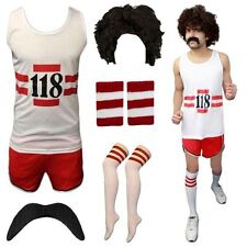 118 118 FANCY DRESS MENS WOMENS COSTUME MARATHON RETRO VEST SHORTS DO STAG SET