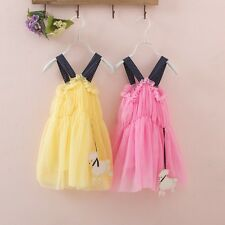 Summer Toddler Baby 2-7Y Girls Princess Sleeveless Tutu Tulle Dress One Piece