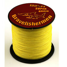 Super Power Yellow 6-100LB PE Dyneema Spectra 100M-1000M Fishing Braided Line