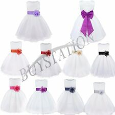 Baby Flower Girl Dress Party Pageant Princess Formal Wedding Bridesmaid Gown