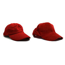 Red Classic Adjustable Baseball Caps - Work Casual Sports Leisure