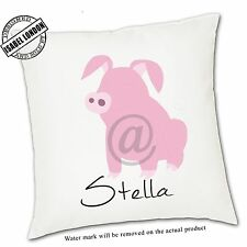 Personalised Pig Cushion Cover.Add your own text-ILVC 1114