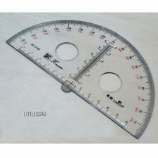Stus180 Degree Acrylic Clear Protractor Ruler Round  School Office15cm-30cm Hot