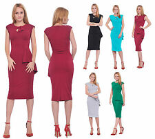 MARYCRAFTS WOMENS VINTAGE RETRO WIGGLE 50'S 1950S BODYCON FITTED MIDI DRESSES