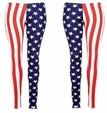 Women, ladies and girls USA FLAG STARS AND STRIPES PRINTED LEGGING,UK 8-10,12-14