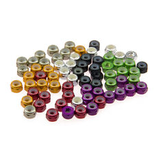10x M4 Nylon Insert Self-Lock Nuts Hex Lock Nut Aluminum Nuts for Bolts Screws