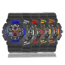 ALIKE AK1055 Rubber Strap Digital Watch Quartz Analog Watch Wristwatch BG