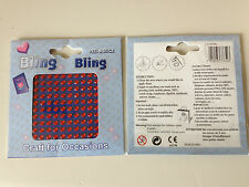 Peel and Stick Bling Gems 100 per pk Craft Embellishments Various Colours/Sizes
