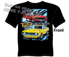 Camaro T Shirts Chevy Shirt Chevrolet Clothing Muscle Car Tshirt 1969 Automotive