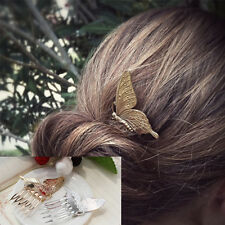 Vintage Fashion Women Gold/Silver Delicate Butterfly Barrette Hair Clips Hairpin