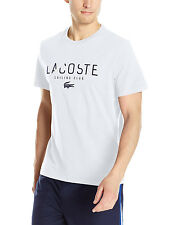 Lacoste White/Navy Blue Sailing Club Graphic Regular Fit Short Sleeve T-Shirt
