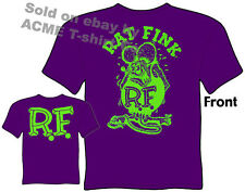 Ratfink T Shirts Ed Roth Rat Fink Big Daddy Clothing Ed Roth T Shirts Purple Tee