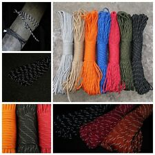 Luminous / Reflective 550 Paracord Parachute Cord 9 Strand Core Outdoor Survival