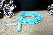Suede Leather White Pearl Multi Wrap Bracelet / Necklace YOU CHOOSE COLORS USA