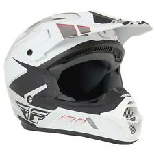 Fly Racing Kinetic Impulse Matte White/Black Motocross Dirt Bike Helmet DOT APR