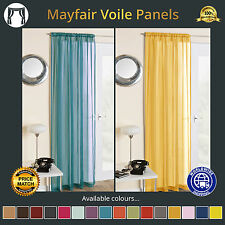 Luxury Mayfair Plain Voile Curtain Panel White Cream All Colours Net and Voile