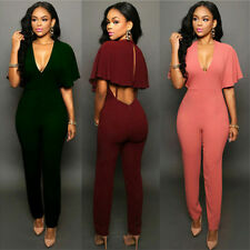 Women Sexy Bandage Jumpsuits Slim Nightclub Bandage Rompers One Piece Tops+Pants
