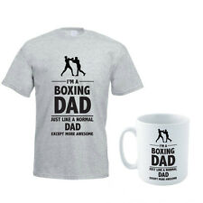 BOXING DAD - Boxer / Father's Day Gift / Funny Gift Idea Men's T-Shirt & Mug Set