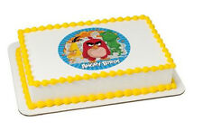 Angry Birds edible image custom cake topper frosting sheet icing #38915