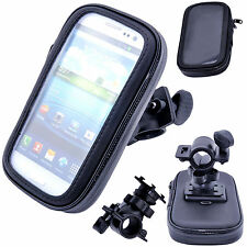 Waterproof Bike Mount Holder Cycle Case Bicycle Cover for Mobile Phones Black