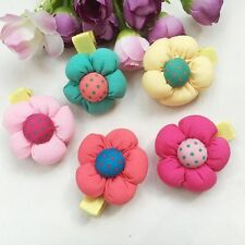 10pcs hair accessories flower girl hair clips hair rope tie baby Ponytail Holder