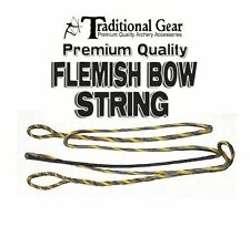 FLEMISH 3 PLY LONGBOW BOWSTRING B-50 DACRON ACTUAL STRING LENGTH INCH ARCHERY