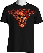 Raging Inferno Flaming Skull T Shirt Hot Rod 7XL 8XL Big and Tall Free Shipping