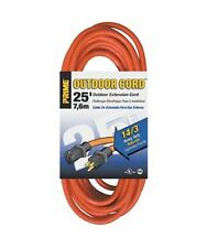 25 50 100Ft 14 Gauge Indoor Outdoor Heavy Duty Power Extension Cord Cable Orange