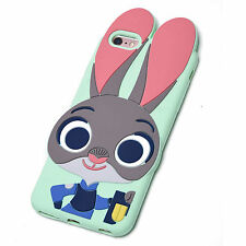Zootopia Rabbit Judy Bunny Soft Silicone Case for iPhone Green with chain