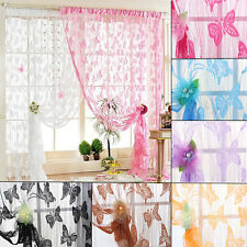 Simple Tassel Window Butterfly String Door Curtain Romantic Voile Decor Curtain