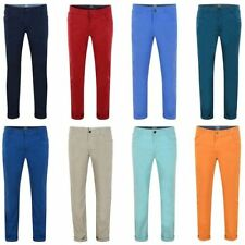 Kids Cotton Chino Trousers Boys Slim Fit Zip Fly Casual Pants Sizes 12-16 Years