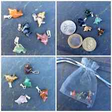 5 Natural healing crystal gemstone carved dolphin pendant. Irish supplier craft