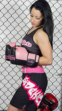 Sidekick Ladies Girls Womens MMA Shorts Pink Grappling Board Shorts Cage Fight