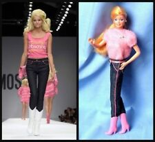 SS15 Moschino Couture X Jeremy Scott Barbie Jeans Denim Slim Fit Limited Rare
