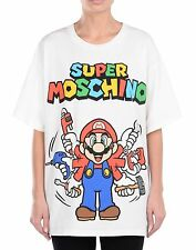SS16 Moschino Couture X Jeremy Scott Super Mario Hands Nintendo T-shirt Tee