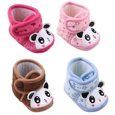 0-12 M Newborn Baby Boy Girl Warm Anti-slip Panda Soft Sole Slipper Shoes Foots