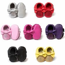0-18M Baby Boy Girl Toddler Soft Sole Shoes  Infant Kid Moccasins Bowknot Shoes