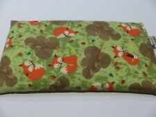 Large Wheat Heat Pack 34 x 17 Bag - Woodland Red Fox Lavender,- Unscented