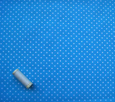 Turquoise Spot Print Polycotton Dressmaking * Bunting * Crafts *112cm wide