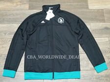 NEW Adidas Boston Marathon 2016 Men's Black / Teal Track Zip Jacket Size M / L