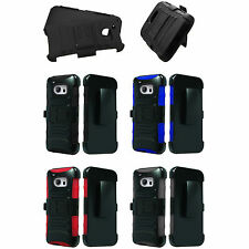 """3Lyr Holster Stand Cover Case HTC AT&T T-Mobile Sprint Verizon 10 One M10 (5.2"""")"""