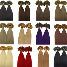 100s 20'' Pre Bonded Fusion Keratin Nail/U Tip Remy Human Hair Extensions AAAA+