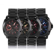 Men's Fashion Steel Band Quartz Digital Wrist Watch NAVIFORCE NF9069