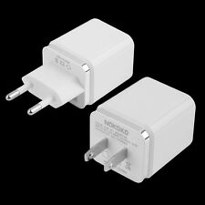 White 4 Ports USB Travel Wall Charger Multi Power Adapter Pack US EU Plug
