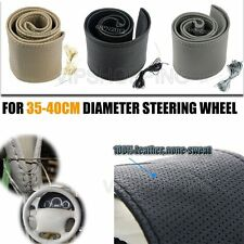 Universal S/M/L Car Steering Wheel Leather Cover Wrap Housing DIY Needle Thread