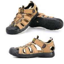 New Cool Fashion Summer Mens Leather Sandals Beach Sandals mens Shoes Large size