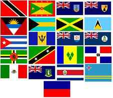 Caribbean Islands 5 x 3 flags Nottinghill Carnival  Flag Flags