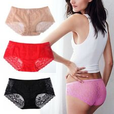 Lady Sexy Lace Briefs High Waist Comfort Buttock Soft Panties Underwear Knickers