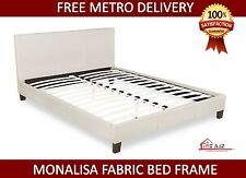 New Fabric Queen Size Monalisa Bed frame - Beige
